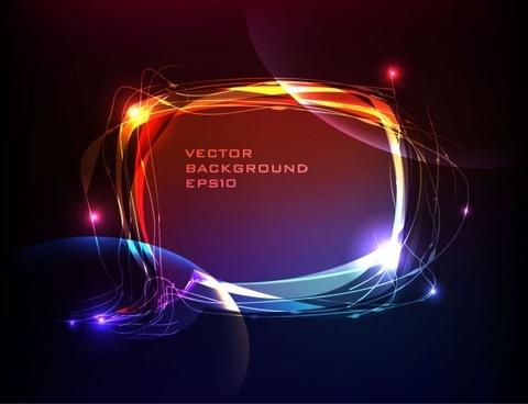 brilliant neon effects 01 vector