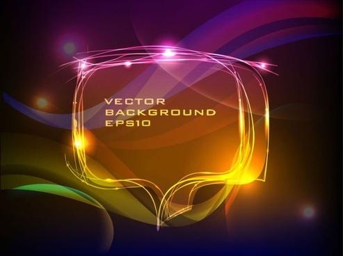 brilliant neon effects 04 vector
