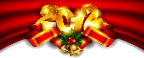 brilliant new year background 01 vector