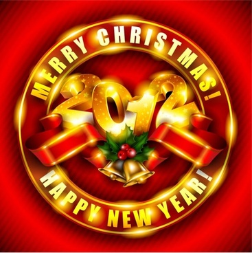 brilliant new year background 03 vector