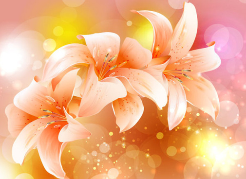 brilliant petal background vector