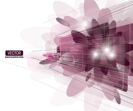 brilliant purple elements 05 vector