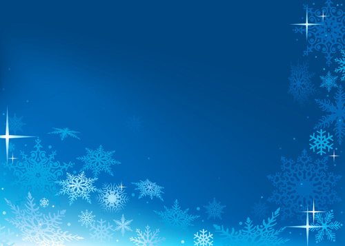 blue snowflake winter wonderland background free vector
