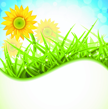 brilliant spring natural vector background