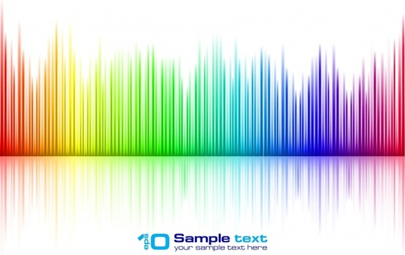 sound track background colorful stripes shiny modern decor