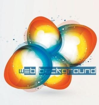brilliant web colorful background vector set