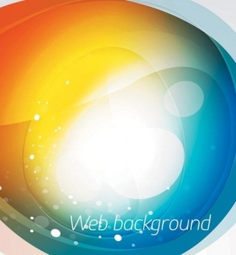 brilliant web colorful background vector set