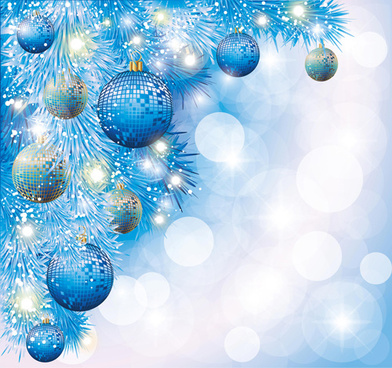 brilliant xmas balls ornaments design vector set