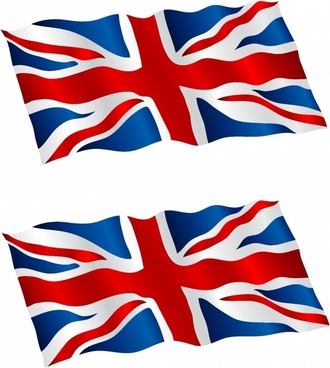 British Flag Flying in the Wind