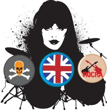 british rocker vector