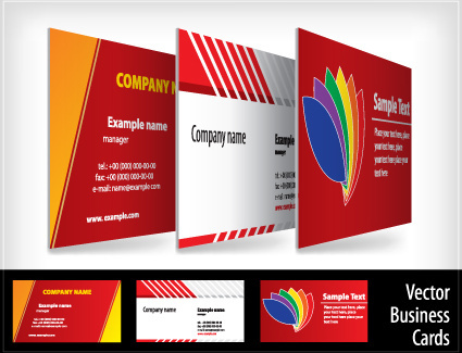 brochure and business card design vector