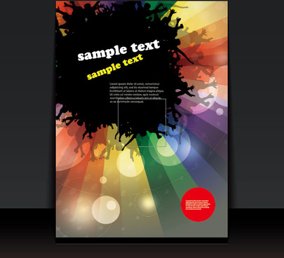 brochure cover design elements vector graphic set