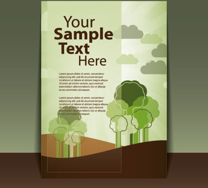 brochure cover design elements vector graphic set