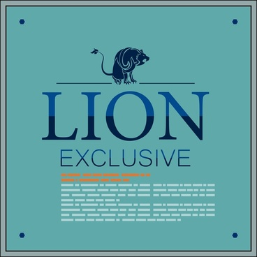 brochure cover design with lion on colored background
