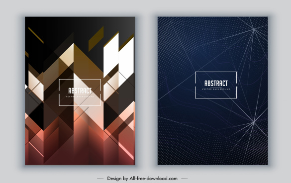brochure cover template modern abstract decor