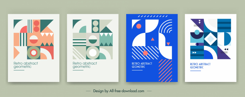 brochure cover templates abstract flat geometrical decor
