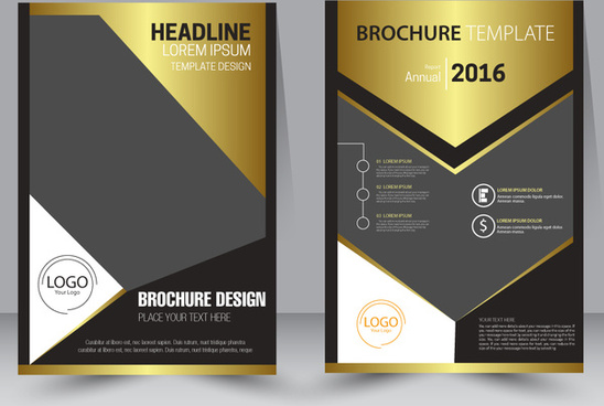 brochure design template with modern style background