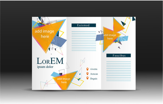 brochure design vector with modern trifold illustration