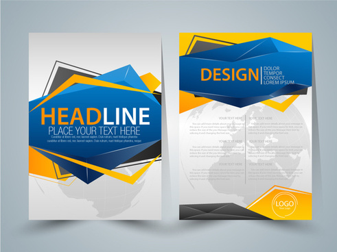brochure design with abstract colored style