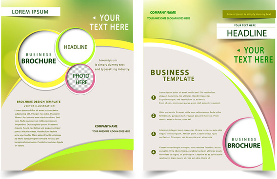 brochure design with bokeh modern style