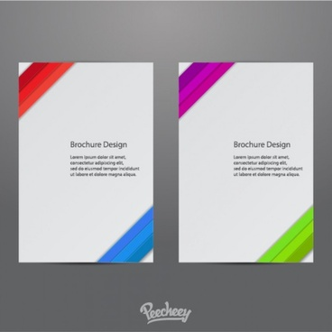 brochure design with colorful elements