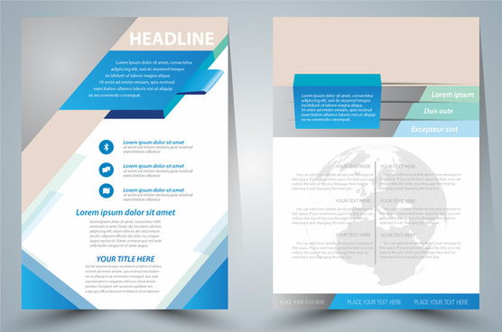 brochure design with modern vignette style