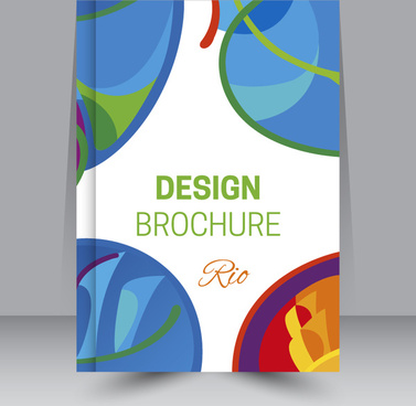 brochure design with olympic event illustration
