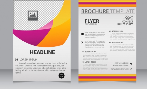 brochure flyer template modern abstract colorful decoration