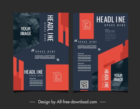 brochure template classic elegant dark decor