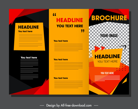 brochure template colorful modern checkered decor