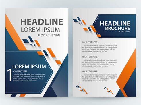 brochure template design with abstract modern style