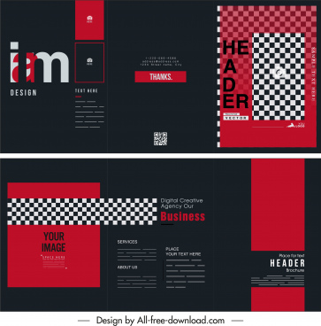 brochure template elegant modern red black decor