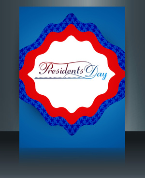 brochure template for united states of america in president day colorful reflection background