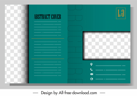 brochure template modern checkered plain decor
