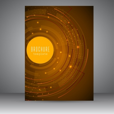 brochure template technology concept design sparkling light decoration