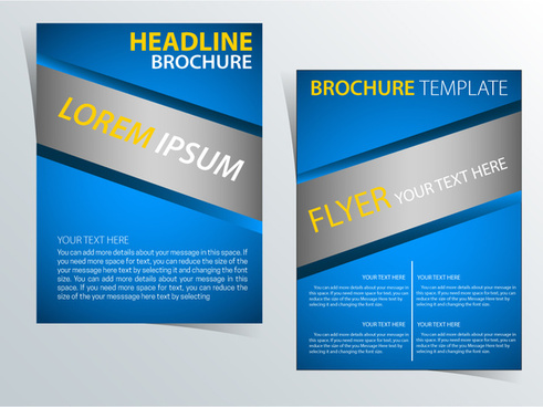 brochure template vector illustration with diagonal style
