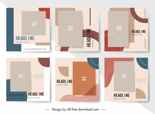 brochure templates colorful classical flat decor