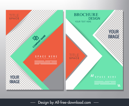 brochure templates modern checkered geometric layout
