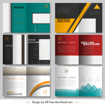 brochure templates modern elegant decor