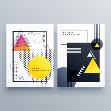 brochure templates modern geometric decor