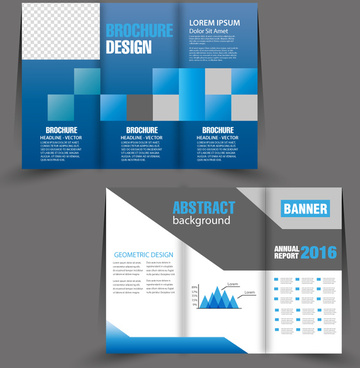 brochure trifold template design with modern bright style