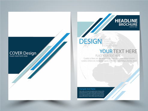 brochure vector design with globe vignette