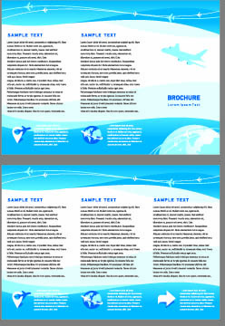 brochures and flyers abstract cover vector