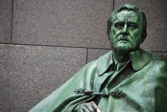 bronze image of fdr