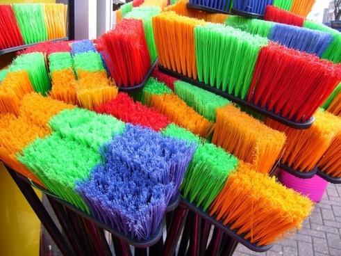 brooms sweeping household