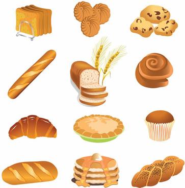 brown bread vector graphic