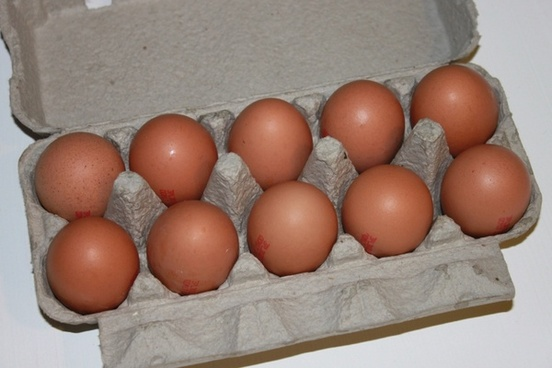 brown cartons eggs