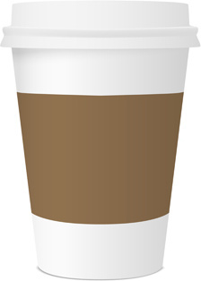 brown coffee paper cup vector graphics