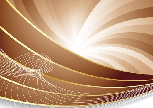 brown dynamic lines of the background vector 3