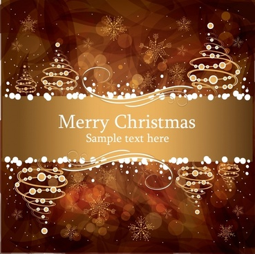 brown gorgeous christmas background vector